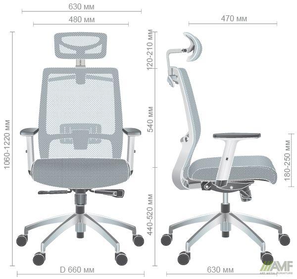 Характеристики Кресло Install White Alum Grey/Green