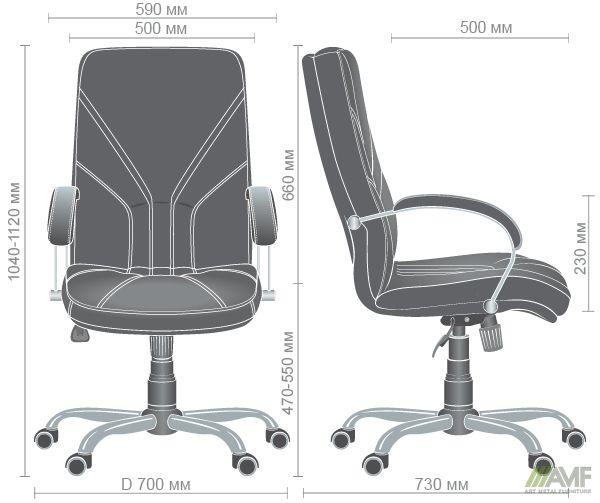 Характеристики Кресло Менеджер Черный графит Tilt Неаполь N-24