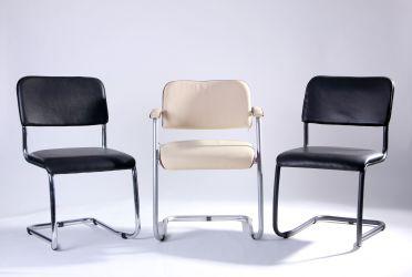 Стул Квест хром Кожзам черный - интерьер - фото 2