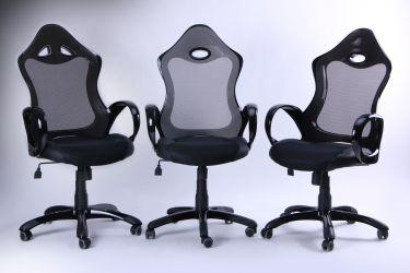 Кресло Матрикс-1 Черный, сиденье Сетка черная/спинка Сетка серая - интерьер - фото 1