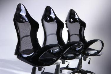 Кресло Матрикс-1 Черный, сиденье Сетка черная/спинка Сетка черная - интерьер - фото 2