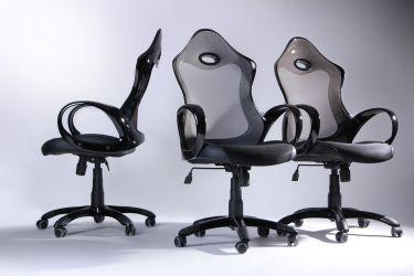Кресло Матрикс-1 Черный, сиденье Сетка черная/спинка Сетка серая - интерьер - фото 3