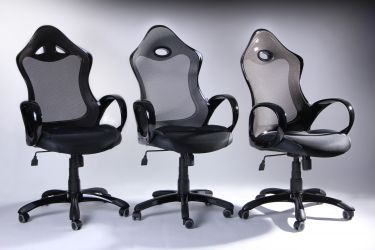 Кресло Матрикс-1 Черный, сиденье Сетка черная/спинка Сетка серая - интерьер - фото 4