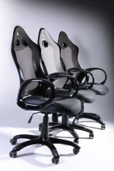 Кресло Матрикс-1 Черный, сиденье Сетка черная/спинка Сетка серая - интерьер - фото 5