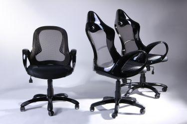Кресло Матрикс-1 Черный, сиденье Сетка черная/спинка Сетка серая - интерьер - фото 6