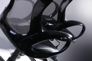 Кресло Матрикс-1 Черный, сиденье Сетка черная/спинка Сетка серая - интерьер - фото 9