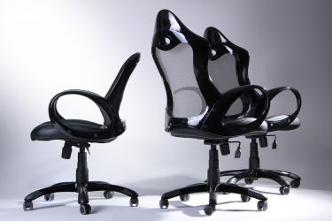 Кресло Матрикс-1 Черный, сиденье Сетка черная/спинка Сетка серая - интерьер - фото 10