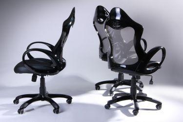 Кресло Матрикс-1 Черный, сиденье Сетка черная/спинка Сетка серая - интерьер - фото 8
