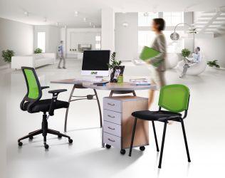 Кресло Онлайн Алюм сиденье Сетка черная/спинка Сетка синяя - интерьер - фото 1