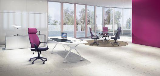 Кресло Concept белый, тк.черный - интерьер - фото 1