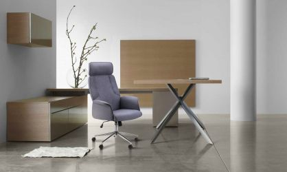 Кресло Madison хром, тк.серый - интерьер - фото 1