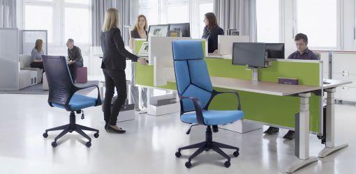 Кресло Urban LB черный, тк.синий - интерьер - фото 1