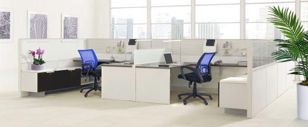 Кресло Веб сиденье Сетка черная/спинка Сетка синяя - интерьер - фото 6