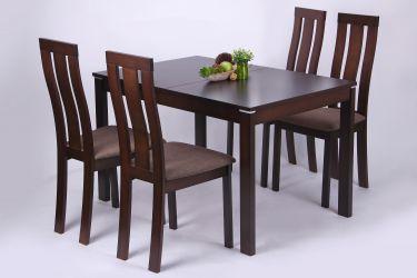 Стол обеденный раздвижной Майн орех темный - интерьер - фото 2
