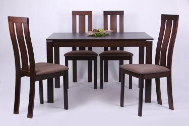Стол обеденный раздвижной Майн орех темный - интерьер - фото 3