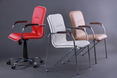 Кресло Самба-RC Хром орех Неаполь N-36 с кантом - интерьер - фото 5