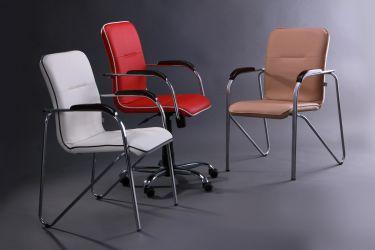 Кресло Самба-RC Хром орех Неаполь N-36 с кантом - интерьер - фото 6