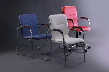 Кресло Самба-RC Хром орех Мадрас дарк браун с кантом Мадрас голд беж - интерьер - фото 9