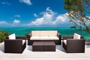Комплект мебели Santo из ротанга Elit (SC-B9508) Brown Mixed YF1217 ткань A14203 - интерьер - фото 1