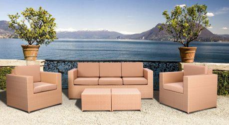 Комплект мебели Santo из ротанга Elit (SC-B9508) Brown Mixed YF1217 ткань A14203 - интерьер - фото 3
