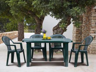 Стол Sorrento 140x80 пластик зеленый 15 - интерьер - фото 2