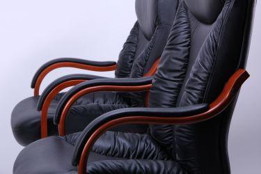 Кресло Буффало LB коньяк Кожа Люкс двухсторонняя Ваниль - интерьер - фото 4