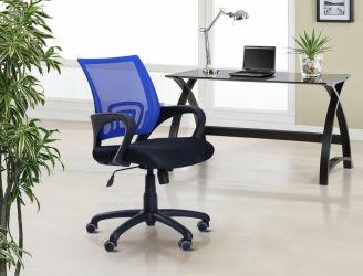 Кресло Веб сиденье Сетка черная/спинка Сетка синяя - интерьер - фото 5