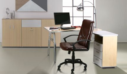 Кресло Менеджер Пластик Мадрас дк браун - интерьер - фото 1