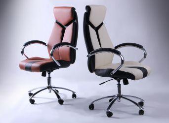 Кресло Прайм MB Хром Неаполь N-20 вставка Неаполь N-20 перфорир. - интерьер - фото 3