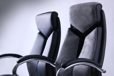 Кресло Прайм MB Хром Неаполь N-20 вставка Неаполь N-20 перфорир. - интерьер - фото 4