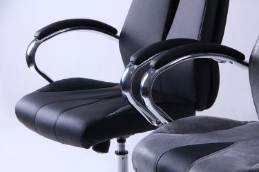 Кресло Прайм MB Хром Неаполь N-20 вставка Неаполь N-20 перфорир. - интерьер - фото 5