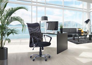 Кресло АЭРО LB сиденье Сетка черная, Неаполь N-20/спинка Сетка синяя - интерьер - фото 2