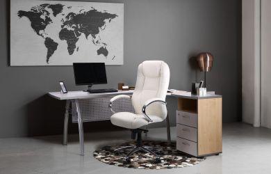 Кресло Мустанг MB Хром Неаполь N-17, вставка Неаполь N-17 перфорированный - интерьер - фото 2