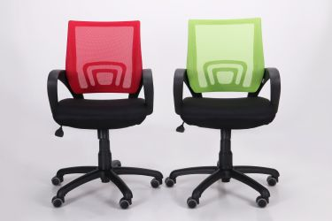 Кресло Веб сиденье Сетка черная/спинка Сетка синяя - интерьер - фото 9