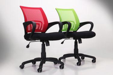Кресло Веб сиденье Сетка черная/спинка Сетка синяя - интерьер - фото 11