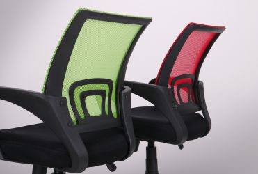 Кресло Веб сиденье Сетка черная/спинка Сетка синяя - интерьер - фото 15