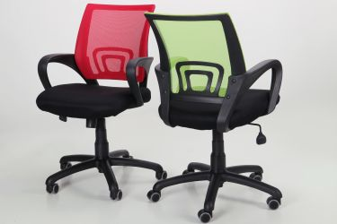 Кресло Веб сиденье Сетка черная/спинка Сетка синяя - интерьер - фото 17