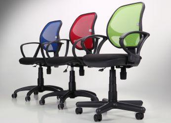 Кресло Бит Color/АМФ-8 сиденье Сетка серая/спинка Сетка оранжевая - интерьер - фото 2