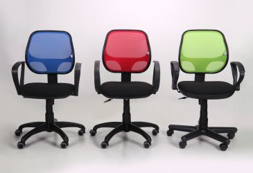 Кресло Байт/АМФ-4 сиденье Сетка черная/спинка Сетка лайм - интерьер - фото 3