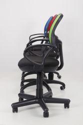 Кресло Байт/АМФ-5 сиденье Сетка черная/спинка Сетка оранжевая - интерьер - фото 5