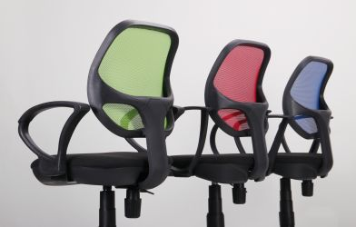 Кресло Байт/АМФ-5 сиденье Сетка черная/спинка Сетка красная - интерьер - фото 7