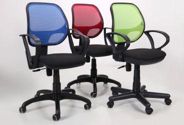 Кресло Байт/АМФ-4 сиденье Сетка черная/спинка Сетка лайм - интерьер - фото 9