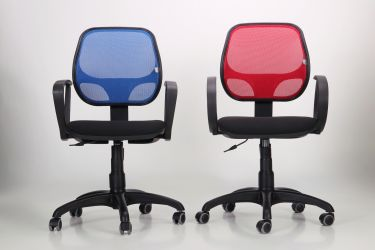 Кресло Байт/АМФ-5 сиденье Сетка черная/спинка Сетка красная - интерьер - фото 10