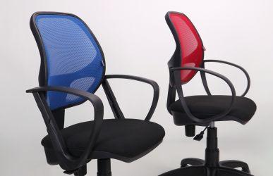 Кресло Байт/АМФ-5 сиденье Сетка черная/спинка Сетка красная - интерьер - фото 14