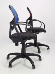 Кресло Байт/АМФ-5 сиденье Сетка черная/спинка Сетка оранжевая - интерьер - фото 15