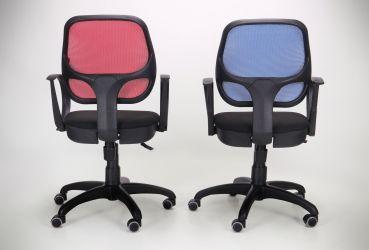 Кресло Байт/АМФ-5 сиденье Сетка черная/спинка Сетка красная - интерьер - фото 13