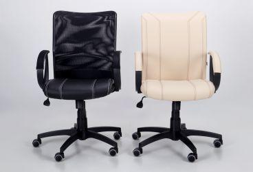 Кресло Лайт Net LB Софт АМФ-8 Неаполь N-20 нитка белая/спинка Сетка Оранжевая нитка белая - интерьер - фото 2