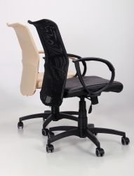Кресло Лайт Net LB Софт АМФ-8 Неаполь N-20 нитка белая/спинка Сетка Оранжевая нитка белая - интерьер - фото 4