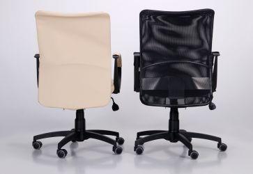 Кресло Лайт Net LB Софт АМФ-8 Неаполь N-20 нитка белая/спинка Сетка Оранжевая нитка белая - интерьер - фото 5