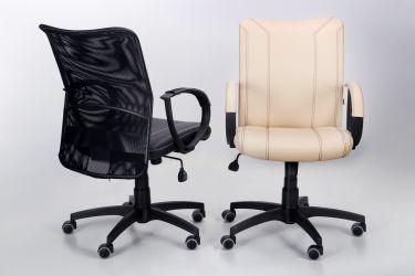 Кресло Лайт Net LB Софт АМФ-8 Неаполь N-20 нитка белая/спинка Сетка Оранжевая нитка белая - интерьер - фото 7